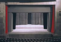 Saal mit Bühne Ausschnitt